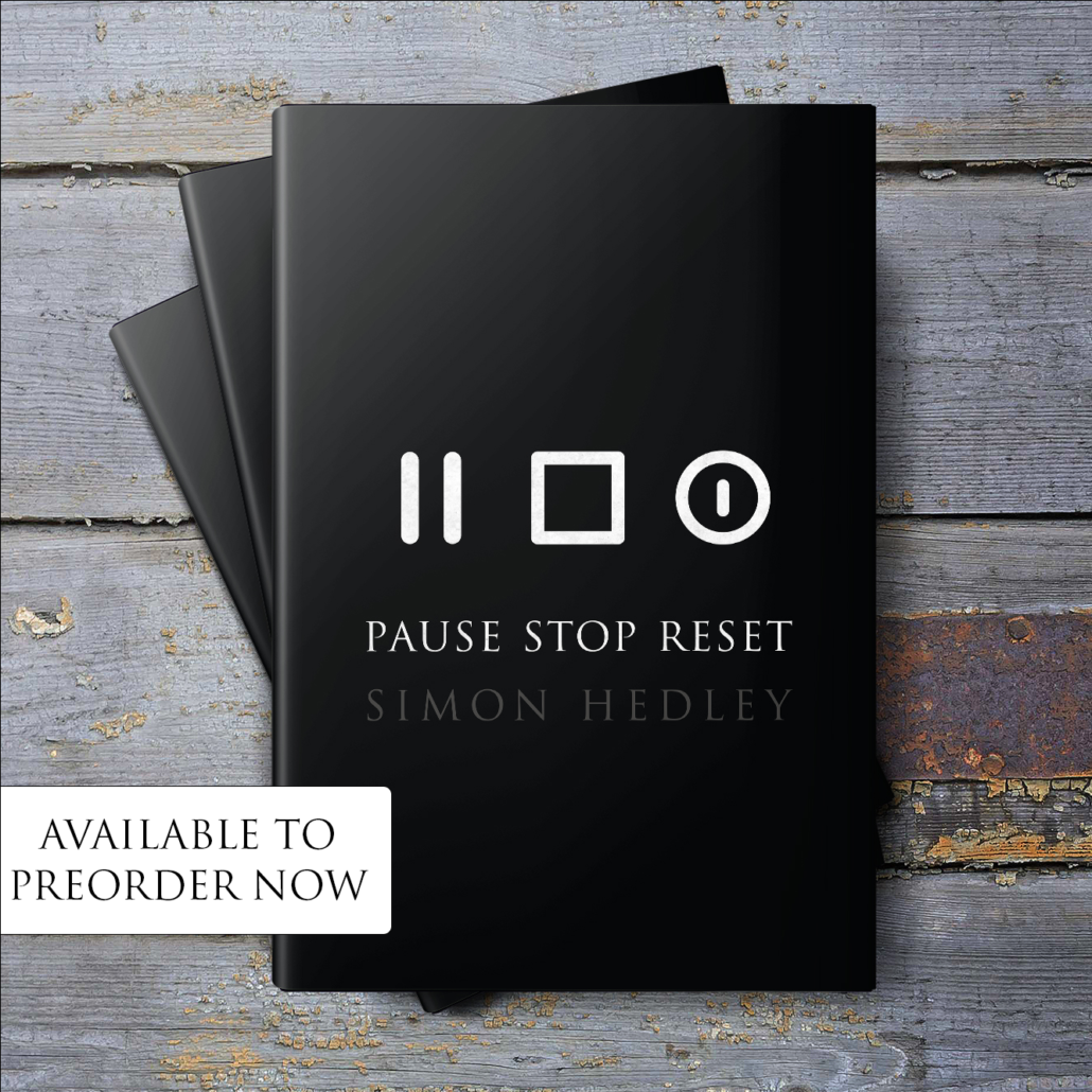 PauseStopReset The Book by Simon Hedley